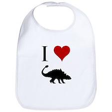 I Love Dinosaurs - Ankylosaur Bib