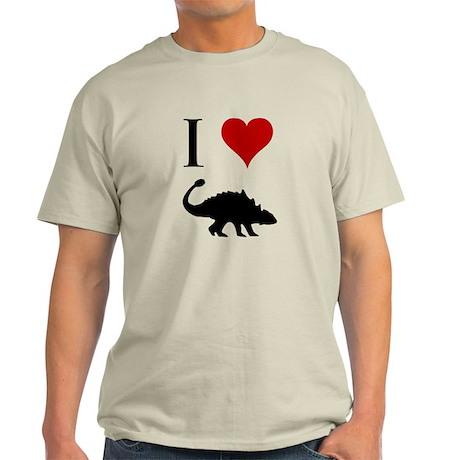 I Love Dinosaurs - Ankylosaur Light T-Shirt