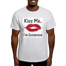 Kiss Me, I'm Guyanese Ash Grey T-Shirt