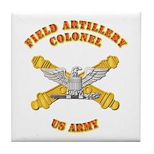 Artillery - Officer - Colonel Tile Coaster