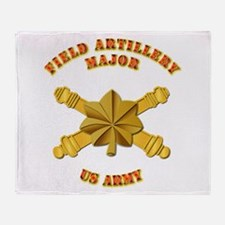 Artillery - Officer - MAJ Throw Blanket