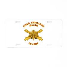 Artillery - Officer - MAJ Aluminum License Plate