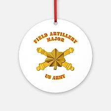 Artillery - Officer - MAJ Ornament (Round)