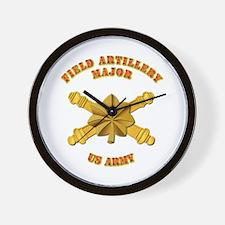Artillery - Officer - MAJ Wall Clock