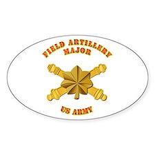 Artillery - Officer - MAJ Decal