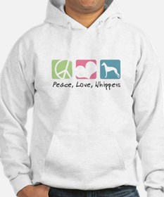 Peace, Love, Whippets Hoodie