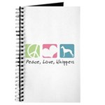 Peace, Love, Whippets Journal