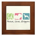 Peace, Love, Whippets Framed Tile