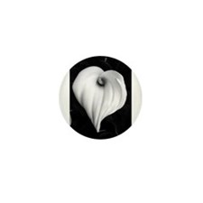 Black and White Calla Lily Mini Button (10 pack)