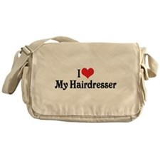 I Love My Hairdresser Messenger Bag