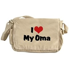 I Love My Oma Messenger Bag