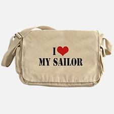 I Love My Sailor Messenger Bag