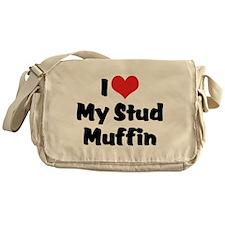 I Love My Stud Muffin Messenger Bag