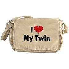 I Love My Twin Messenger Bag