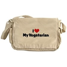 I Love My Vegetarian Messenger Bag