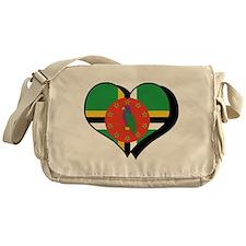 I Love Dominica Messenger Bag