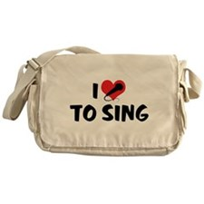 I Love To Sing 2 Messenger Bag