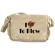 I Love To Blow Messenger Bag