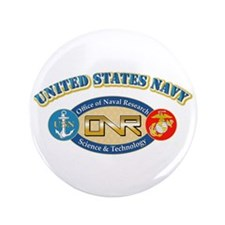 """US Navy - Office of Naval Research 3.5"""" Butto"""
