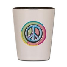 Colorful Peace Sign Shot Glass