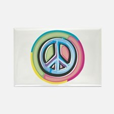Colorful Peace Sign Rectangle Magnet