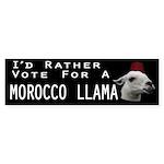 Morocco Llama For President Sticker (Bumper 10 pk)