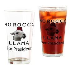 Morocco Llama For President Drinking Glass
