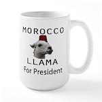 Morocco Llama For President Large Mug