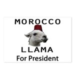 Morocco Llama For President Postcards (Package of