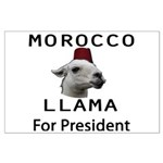 Morocco Llama For President Large Poster