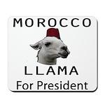 Morocco Llama For President Mousepad