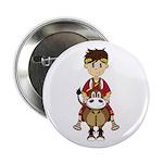 """Roman Emperor and Horse 2.25"""" Button"""