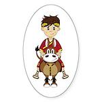 Roman Emperor and Horse Sticker (50 Pk)