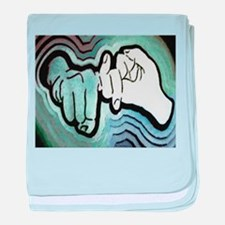 Cute Sign language baby blanket