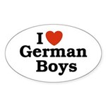 I love German Boys Oval Sticker