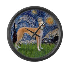 Starry / Greyhound (f) Large Wall Clock