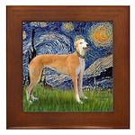 Starry / Greyhound (f) Framed Tile