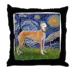 Starry / Greyhound (f) Throw Pillow