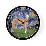 Starry / Greyhound (f) Wall Clock