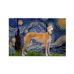 Starry / Greyhound (f) Rectangle Magnet