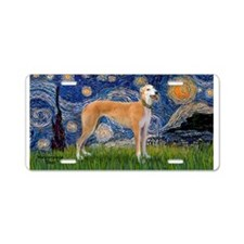 Starry / Greyhound (f) Aluminum License Plate