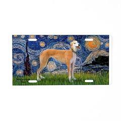 Starry / Greyhound (f) Aluminum License Plate