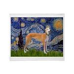 Starry / Greyhound (f) Throw Blanket