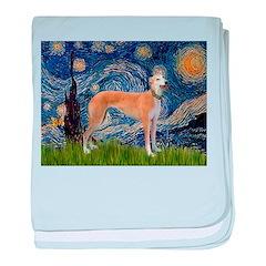 Starry / Greyhound (f) baby blanket