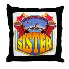 Super Sister Throw Pillow