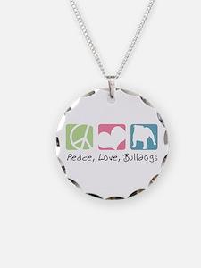 Peace, Love, Bulldogs Necklace