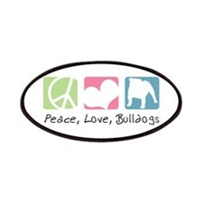 Peace, Love, Bulldogs Patches