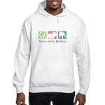 Peace, Love, Bulldogs Hooded Sweatshirt