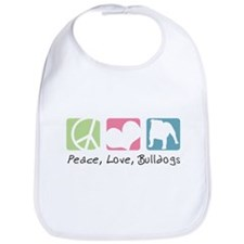 Peace, Love, Bulldogs Bib
