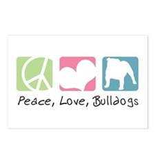 Peace, Love, Bulldogs Postcards (Package of 8)